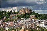 Poster 60 x 40 cm: Stadtansicht von Marburg mit Schloss von