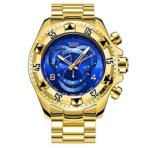 Watch Men Sport Top Brand Luxury Relojes de Pulsera de Cuarzo para Hombres Big Dial Acero Inoxidable Relojmasculino Relogio Masculino