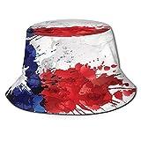 fudin Sombrero de Pescador Unisex Bandera de Texas Hecha de Salpicaduras de Colores Plegable De Sol/UV Gorra Protección para Playa Viaje Senderismo Camping