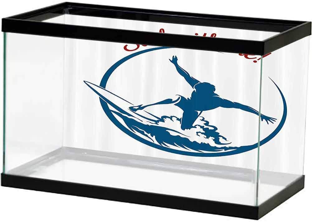 Modern Aquarium Background Surf with S Quote Man Me Surfing Japan's New color largest assortment