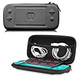 ACdream Carrying Case for New Switch Lite 2019 Release, Protective Travel Carrying Pouch Bag for Small Nintendo Switch Lite 5.5 inch, 8 Game Cards Console & Accessories, Black