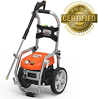 Yard Force PSI Brushless Electric Pressure Washer with Adjustable Pressure and BONUS Turbo Nozzle - YF2200BL