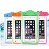 iPhone Waterproof Case,Waterproof Bag,4 Pack Noctilucent Cellphone Underwater Dry Pouch Waterproof Cases Cover for iPhone 12/11 Pro Max/Pro/8 Plus, Galaxy S21/S20/S10/Note 20/10/9, Pixel 4 XL up to 7'