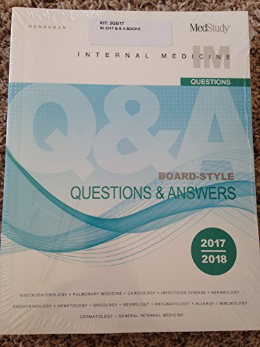 Medstudy 17th edition 2017-2018 Internal Medicine Board-Style Questions & Answers