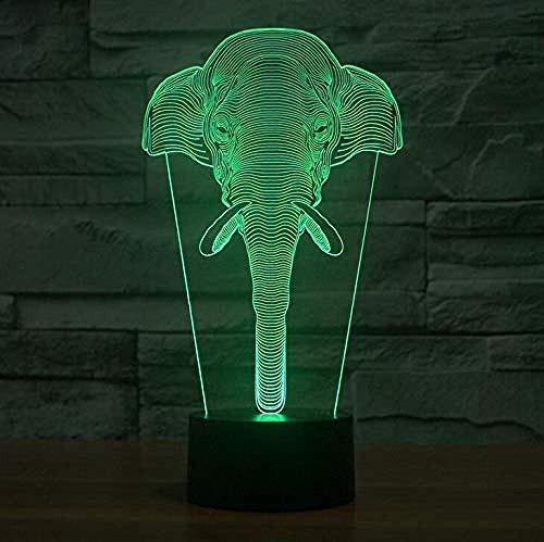 Ilusión 3D luz de noche acrílico luz de noche creativa 3D novedosa luz de atmósfera luz USB interruptor táctil cambio de siete colores juguete de regalo para niños