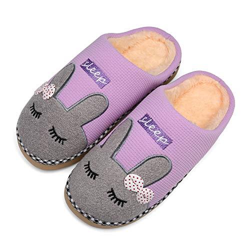 Mishansha Zapatillas Invierno Mujer Casa Zapatos Antideslizante...