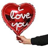WUJIANCHAO Gran Anillo de Diamantes de Oro Globos de Papel de Aluminio Propuesta de Boda Regalo del día de San Valentín Love You Red Heart Ball Party