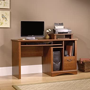 Sauder Camden County Computer Desk, Planked Cherry Finish