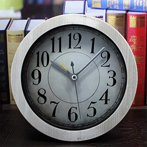 Yaju Quarz Pendeluhr Kaminuhren,Retro-alte Holz kleine Uhr Desktop-Heimtextilien Uhr 12 * 12cm