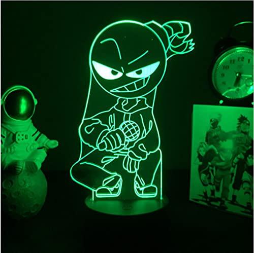 Friday Night Funkin Lámpara 3D 7 Colores Led Luces De Noche Regalos Para Habitación De Amigos...
