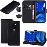 OPPO Reno 2Z Case, Wallet Case Magnetic Flip Leather Cover