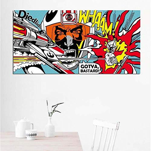 Frameloos ART Roy Lichtenstein Abstracte Posters Pop Art Canvas ng Wall Art Pictures voor woonkamer groot formaat50x100cm