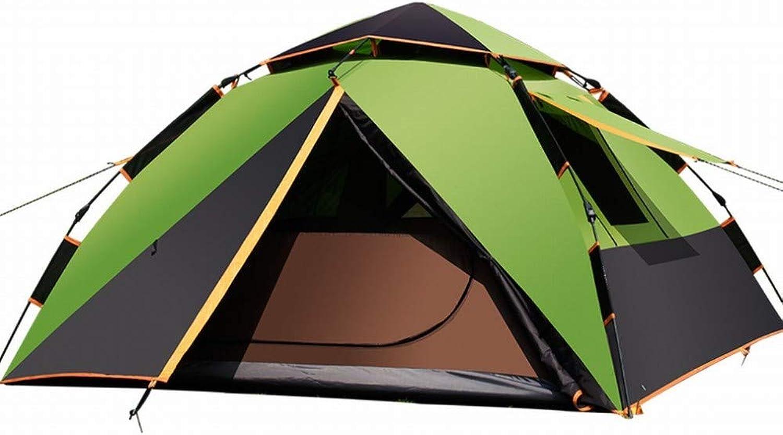 CN Imprgniern Sie selbstttiges Zelt des Zeltes, Das im Freien Doppeltes Zelt des Zeltes kampiert, Das mehrfache Jahreszeiten kampiert,Dunkelgrün,1