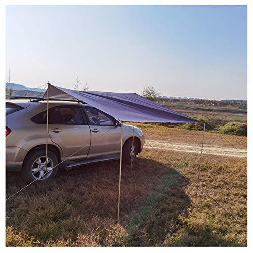 BEDSETS Toldo de coche, toldo para coche, impermeable, para coche, toldo para remolque, tienda de campaña, toldo trasero, toldo para SUV, camping, exterior (gris de alta calidad, 440 x 200 cm)