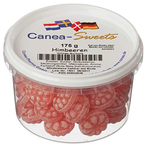 Canea-Sweets Beerenstarke Himbeer-Drops, HIMBEEREN Bonbons Dose, 1er Pack (1 x 175 g)