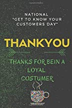 """Thanks for bein a loyal costumer FOR BEIN A LOYAL COSTUMER: thankyou. we celebrating"""" G E T T O K N O W Y O U R C U S T O M E R S D A Y """""""
