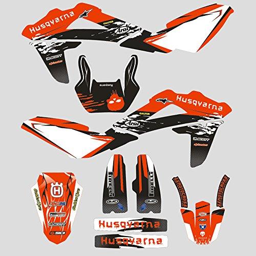 JFG Racing Personalizado Motocicleta Pegatinas Adhesivas Completas Pegatinas gráficos Kit para Husqvarna TE 450/510 2008-2010