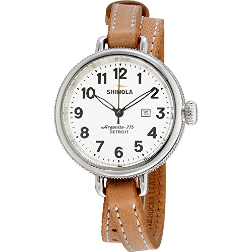 Shinola The Birdy Damen-Armbanduhr 34mm Armband Leder Braun Batterie 10000234