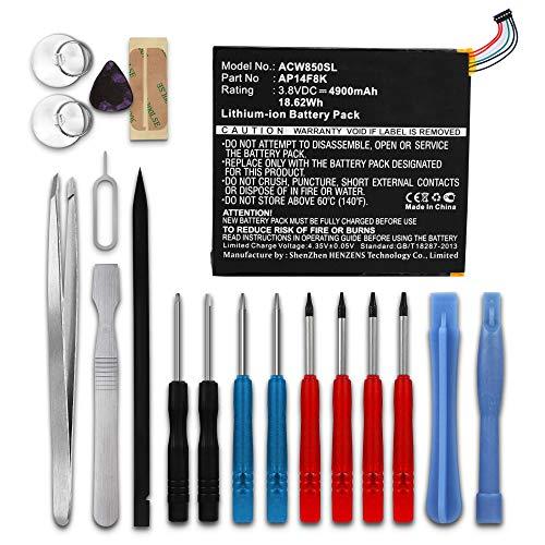 subtel® Premium Akku kompatibel mit Acer Iconia Tab 8 A1-850 / Iconia One 8 B1-820 / B1-830 / Predator 8 inkl. Werkzeug-Set (4900mAh) AP14F8K Ersatzakku Batterie Tabletakku