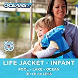 Oceans7 Us Coast Guard Approved, Infant Life Jacket, Type II Vest,...