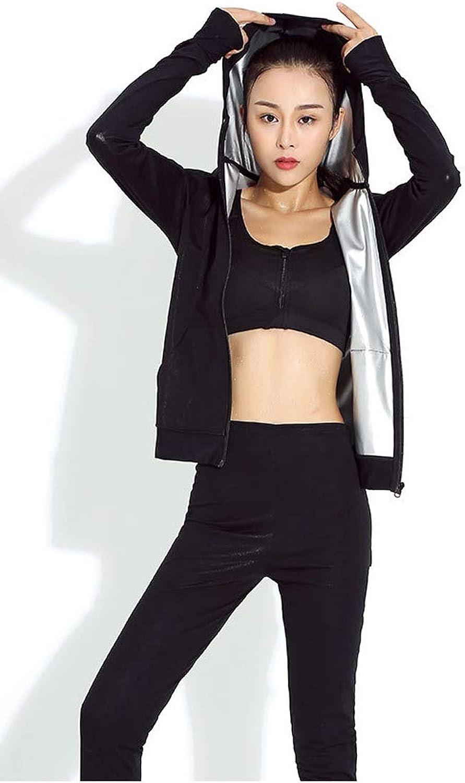 Explosive Sweat Suit Female Fat Burning Abdomen Pants Fitness Sweat Suit Running Sportswear Slimming Clothes Yoga Short Sleeve Large Size Suit