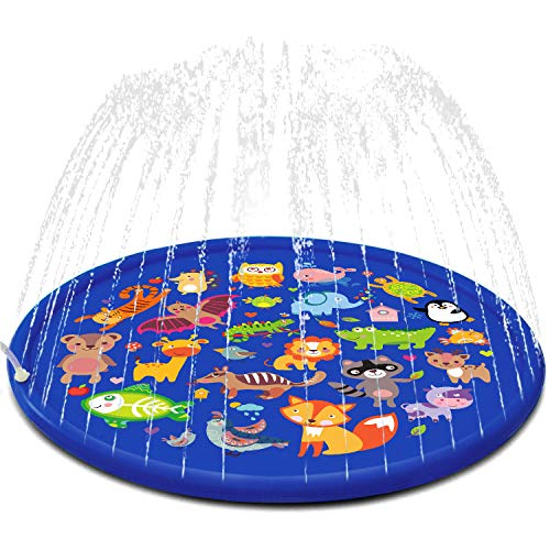 FUN LITTLE TOYS Inflatable Sprinkler for Kids, 66'' Splash Pad for Summer Outdoor, Swimming Pool,...