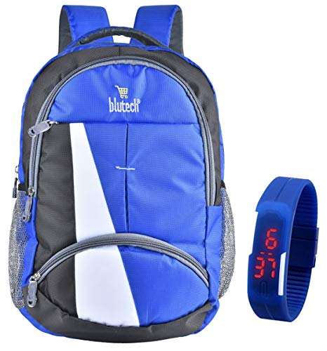 BLUTECH Polyester 36 Liters Waterproof Royal Blue School...