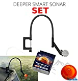 Deeper Smart Sonar Pro + Plus Zubehör Set + Flexarm Echolothalter & Night Fishing Cover