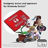 SanDisk Carte microSDXC UHS-I pour Nintendo Switch 128 Go - Produit sous licence Nintendo