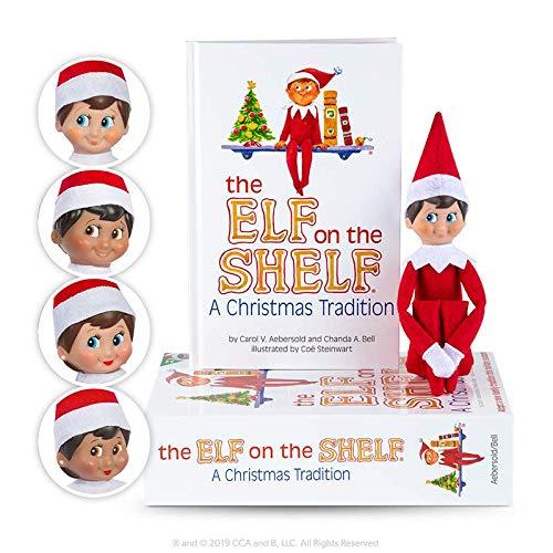 The Elf on the Shelf Christmas Tradition | Elf on the Shelf Boy, Light Tone, Blue Eyes | Christmas Elf