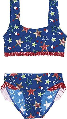Playshoes Mädchen Zweiteiler Bikini Sterne, UV-Schutz nach Standard 801 und Oeko-Tex Standard 100, Gr. 86 (Herstellergröße: 86/92), Blau (original 900)