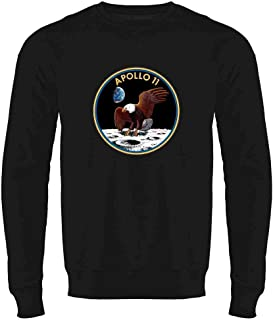 Apollo 11 Mission Patch NASA Approved Crewneck Sweatshirt for Men