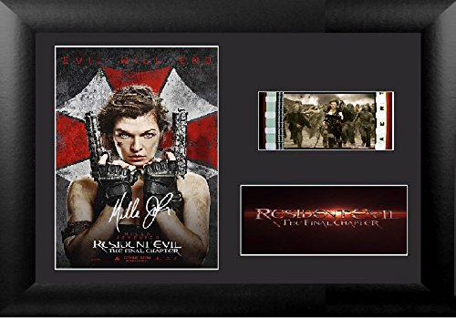 Resident Evil The Final Chapter Signed Atemberaubende Kult Retro 35 mm Filmzelle, gerahmt Display