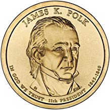 james k polk 1845 dollar coin