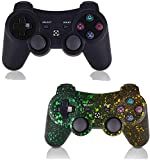 Game Controller for PS3,Wireless Gaming Controller, Double Vibration Game Controller with Upgrade Sixaxis and High-Precision Joystick for Playstation 3 (2 Pack)