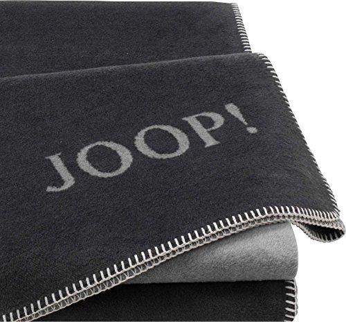 Joop! Wohndecke Uni-Doubleface Anthrazit-Graphit 150x200 cm 150x200 cm
