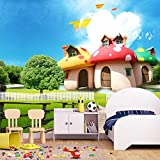 Papel Pintado Sala de setas de dibujos animados sala de niños 3D Fotomurales Dormitorio Despacho Pasillo Decoración murales decoración de paredes Poster,250X175CM(WxH)