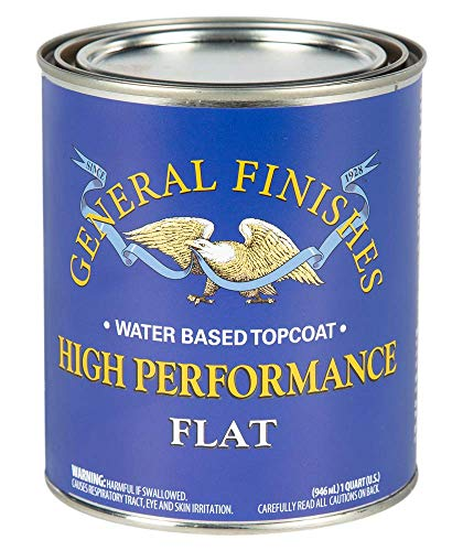 General Finishes High Performance Water Based Topcoat, 1 Quart, Flat
