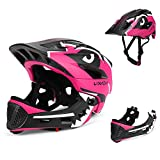 Lixada Kids Bike Helmet Adjustable Detachable Full Face Helmet for Cycling Helmet for Children Bicycle, Skateboard, Scooter, Protective Gear (20.5-22 Inches)