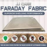 "Upgraded EMF Shielding Faraday Fabric 44""x39"" with Free 1""x24"" Faraday Tape, EMF Shielding Fabric, Anti Radiation, EMI Isolation, WiFi and Cell Signal Blocking Grounding Fabric, Faraday Cage Enclosure"