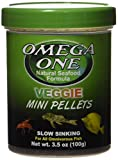 Omega One Veggie Mini Pellets Slow Sinking Fish Food 3.5oz