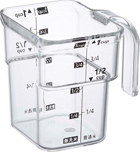 山崎実業 計量カップ 段々 米計量カップ レイヤー ブラック 3381