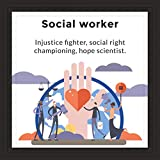 Social Worker Gifts   7x7' Tile Artwork for Case Workers   Perfect Appreciation Gift for Social Workers   Ideal Graduation Present   Ceramic Art for Dorm   Inspirational Office Decor for Women or Men
