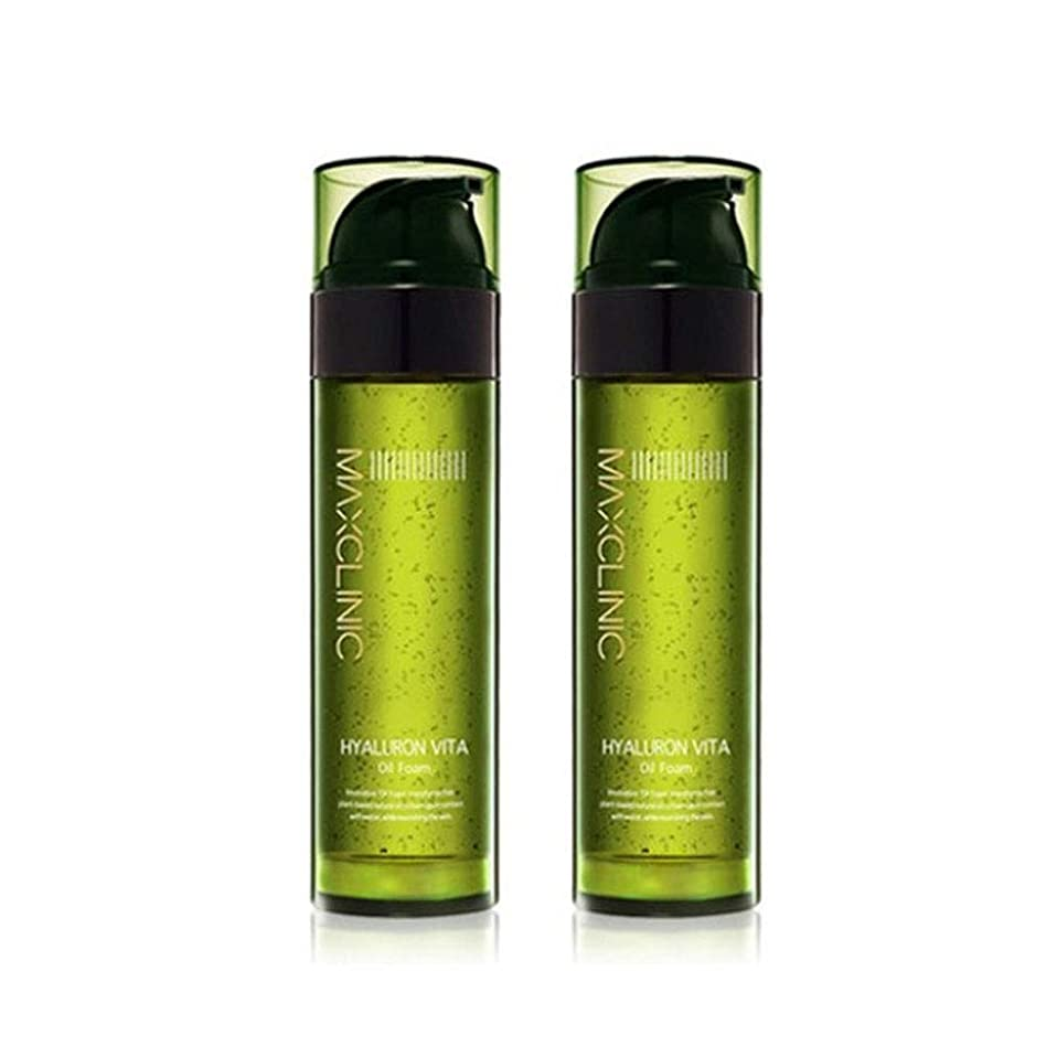 案件数値苦痛マックスクリニックヒアルロンヴィータオイルフォーム110gx2本セット韓国コスメ、Maxclinic Hyaluronic Acid Vita Oil Foam 110g x 2ea Set Korean Cosmetics [並行輸入品]