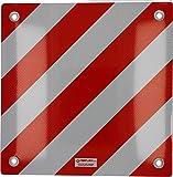 Cartrend 10615 Warntafel Schild reflektierend rot-weiß Heckträger/Fahrradträger Auto mit Typengenehmigung für Italien