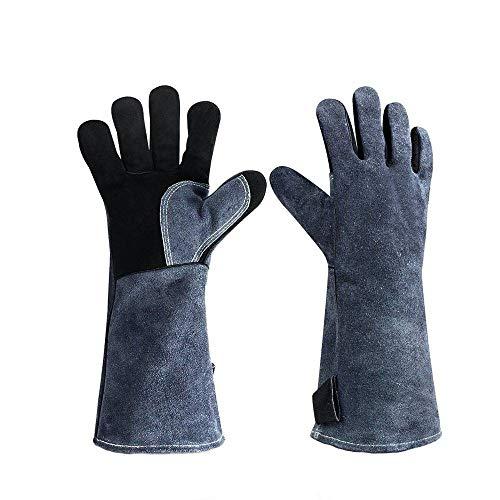 CUIZC Grillhandschuhe Ofenhandschuhe Hochtemperaturbeständige Aluminiumfolie Mikrowelle Backen Wärmeisolationshandschuhe