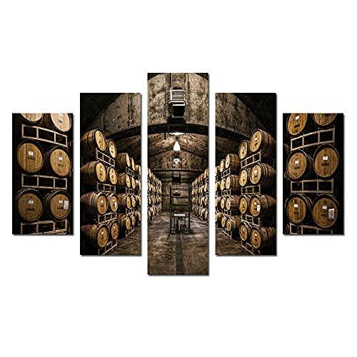 Lienzo 5 Piezas Cuadro De Barriles De Bodega De Vino Lienzos Decorativos Cuadros Grandes Baratos Cuadros Decoracion Cuadros para Dormitorios Modernos Cuadros Decoracion Regalos Personalizados