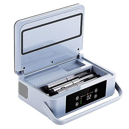 WDAA Estuche Insulina Enfriador Caja, Pantalla LED 2-8 ℃ Estuche de Viaje Enfriador Refrigerado para Medicamentos Mini Refrigerador para Medicamentos de 6-8 Horas