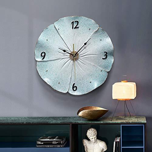 AIJOAN-BJ Estatuas Relojes En Relieve 3D Reloj De Bolsillo Silencioso Familiar De Cuarzo para Dormitorio B