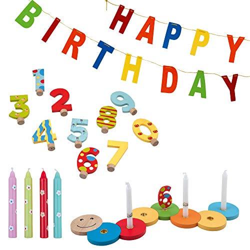 TIB Heyne 75627 Geburtstagsraupe, Mehrfarbig